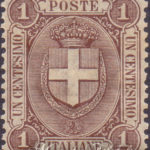 1 Centesimo bruno stemma di Savoia centrato ★★