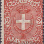 2 Centesimi rosso bruno stemma di Savoia ★★