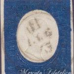 20 Centesimi indaco 1854 usato
