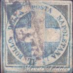 Mezzo tornese azzurro Crocetta usato