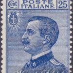 25 Centesimi azzurro Vittorio Emanuele ★★