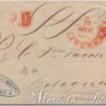 4 Crazie verde su lettera Governo Provvisorio 1859