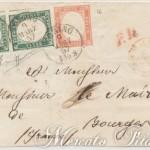 Lettera con 5 Cent in coppia e 40 Cent da Torino 1857