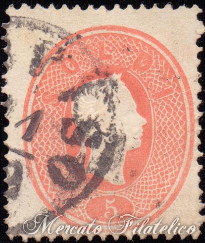 5 soldi rosso chiaro 1861