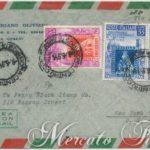 Aerogramma per gli U.S.A. f.lli di Toscana 1951