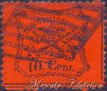 10 Centesimi arancio vermiglio usato