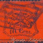 pontificio 10 cent 1868