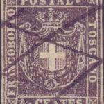 1 centesimo violetto bruno