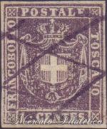 1 Centesimo violetto bruno usato