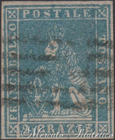 2 crazie azzurro 1857