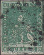 4 Crazie verde 1857 usato