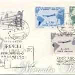 Visita del presidente Gronchi su busta FDC