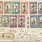 Raccomandata multicolore Massaua-Vienna 1932