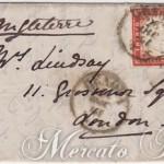 Lettera con 20 + 40 Centesimi da Genova per Londra