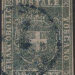 20 Centesimi azzurro-grigio verdastro chiaro usato