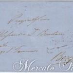 Lettera con 15 Soldi II tipo da Padova a Bergamo 1859