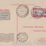 Cartolina aeroespresso Federazione Volontari Garibaldini