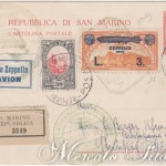 Cartolina Postale Zeppelin San Marino-Cecoslovacchia