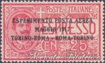 Esperimento di Posta Aerea Torino-Roma centrato ★★