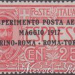 Esperimento di Posta Aerea Torino-Roma ★★