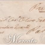 25 Centesimi camoscio chiaro su lettera da Carpi a Padova