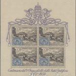 foglietto centenario francobollo