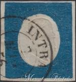 20 Centesimi azzurro chiaro 1854 usato