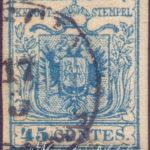 45 Centesimi azzurro vivo III tipo usato