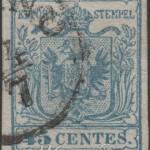 45 centesimi azzurro ardesia