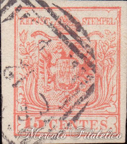 5 soldi rosso 1850