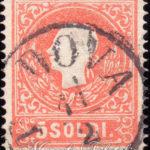 5 soldi rosso 1859