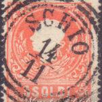 5 Soldi rosso II tipo usato