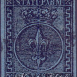 40 Centesimi azzurro usato