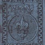 40 cent azzurro parma 1852