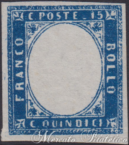 15 cent azzurro senza effigie