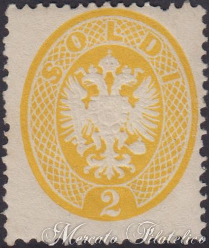 2 soldi giallo 1863