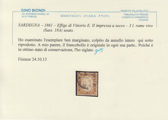 3 lire certificato
