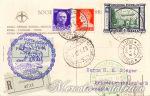 Cartolina Raccomandata Zeppelin 3 Lire
