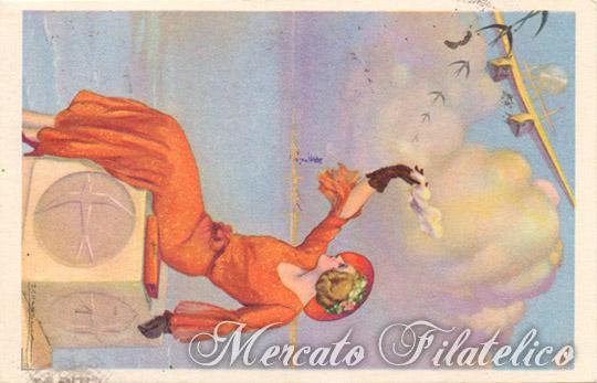 cartolina zeppelin raccomandata verso