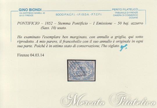 50 baj azzurro certificato