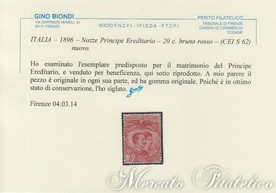 nozze del principe ereditario certificato