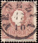 10 Soldi bruno II tipo usato