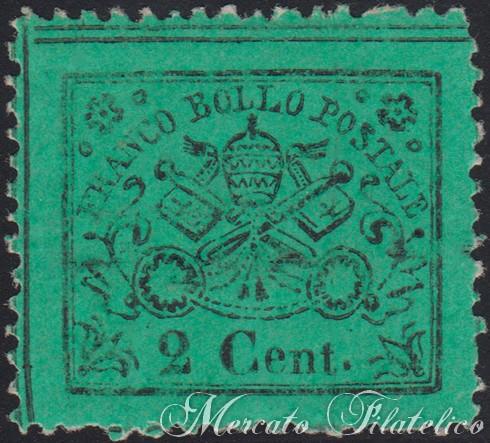 2 centesimi verde chiaro