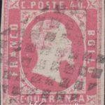40 centesimi rosa carminio vivo