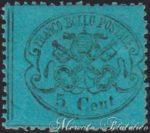 5 Centesimi azzurro chiaro dentellato ★★