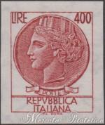400 Lire Italia Turrita non dentellato ★★