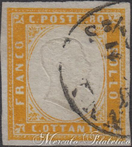 80 centesimi giallo arancio