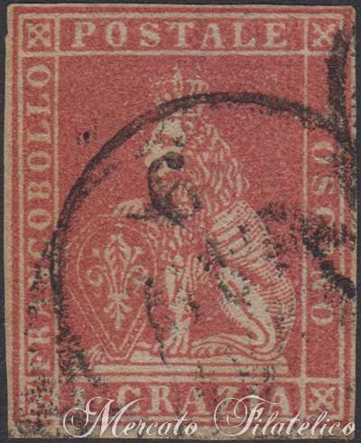 1 crazia carminio chiaro 1857