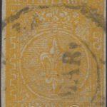 5 centesimi giallo arancio