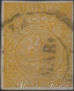 5 Centesimi giallo arancio 2° emissione usato
